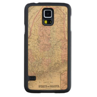 Maine 3 carved maple galaxy s5 case