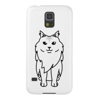 Maine Coon Cat Cartoon Cases For Galaxy S5