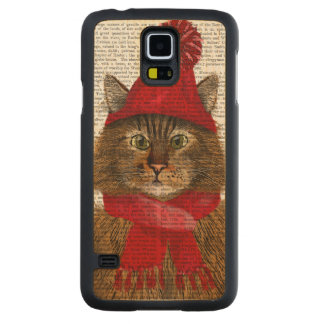 Maine Coon Cat Carved Maple Galaxy S5 Case