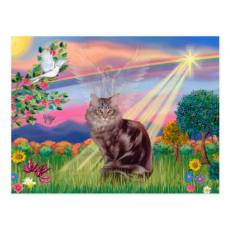 Maine Coon Cat - Cloud Angel Post Cards