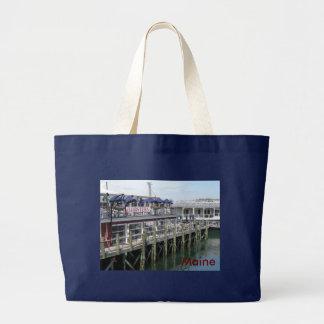 Maine Harbor Large Tote Bag