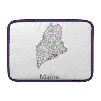 Maine map MacBook sleeve