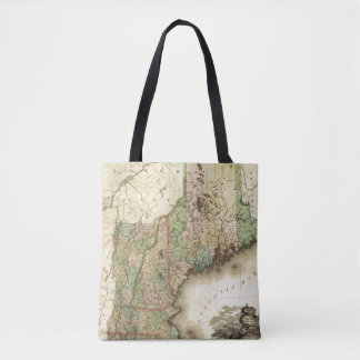 Maine, New Hampshire, Vermont, Massachusetts Tote Bag