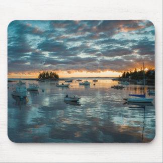 Maine, Newagen, sunset harbor 1 Mouse Pad