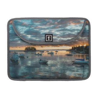 Maine, Newagen, sunset harbor 1 Sleeve For MacBooks