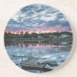 Maine, Newagen, sunset harbor 2 2 Coasters