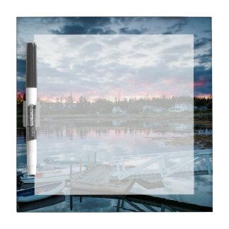 Maine, Newagen, sunset harbor 2 2 Dry Erase Board