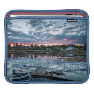 Maine, Newagen, sunset harbor 2 2 iPad Sleeve