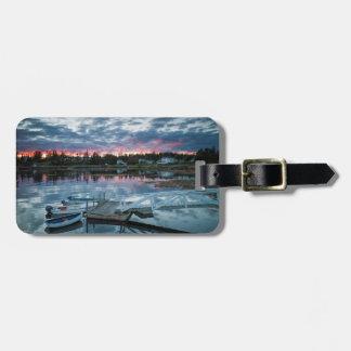 Maine, Newagen, sunset harbor 2 2 Luggage Tag