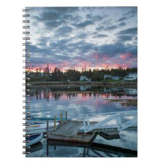 Maine, Newagen, sunset harbor 2 2 Note Book