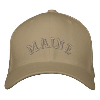 Maine state of USA Embroidered Hats
