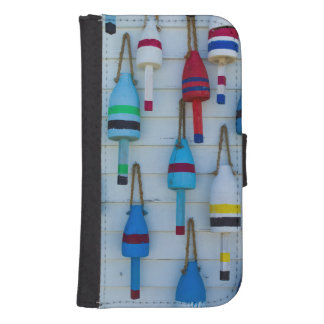 Maine, Stonington, decorative lobster buoys Samsung S4 Wallet Case