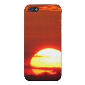 Maine sunset in fiery reds and oranges iPhone 5/5S cases