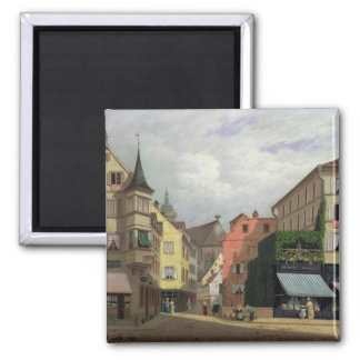 Maison Mathieu, Grand-Rue, Colmar, 1876 Square Magnet
