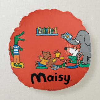 Maisy and Friends Laugh at Story Time Round Cushion