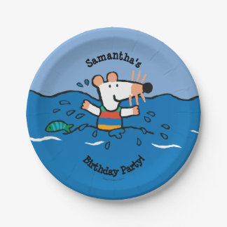 Maisy Goes Swimming Birthday Paper Plate