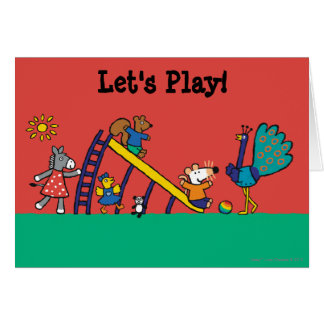 Maisy on the Playground with Friends Card