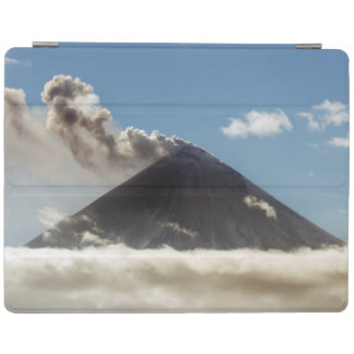Majestic active volcano on Kamchatka iPad Cover