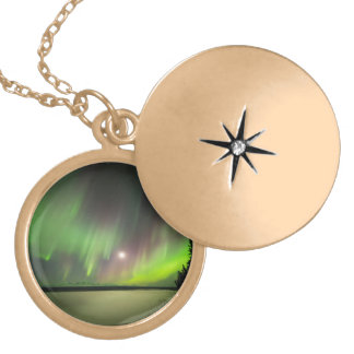 Majestic Aurora Locket Necklace