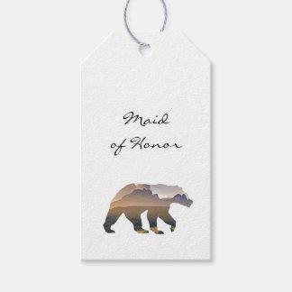 Majestic Bear Wedding Escort Card