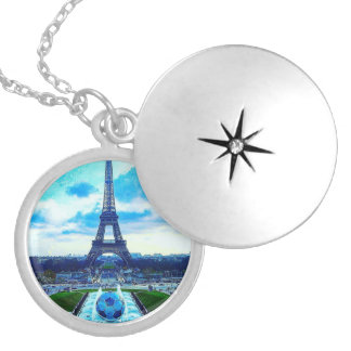 Majestic Effel Tower Silver Plated Locket Necklace