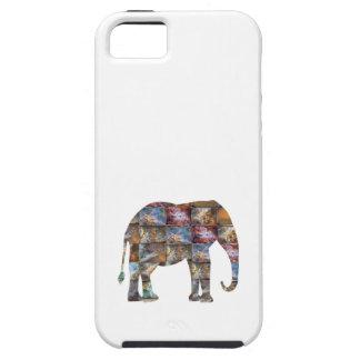 Majestic Friendly Animal Elephant Marble Tiles iPhone 5 Case
