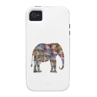 Majestic Friendly Animal Elephant Marble Tiles iPhone 4 Cover