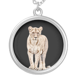 Majestic Lioness Silver Plated Necklace