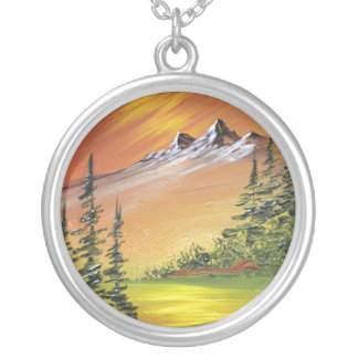 Majestic Mountain Silver Plated Necklace