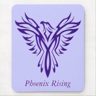 Majestic Purple Phoenix Rising Mouse Pad