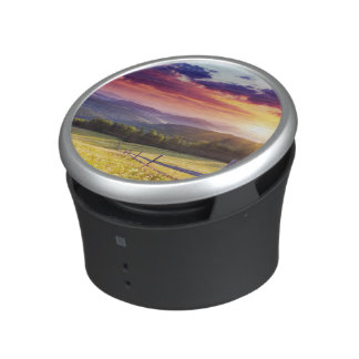 Majestic sunset in the mountains bluetooth speaker