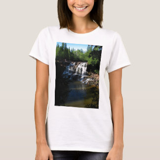 Majestic Waterfall at Gooseberry Falls – Nature T-Shirt