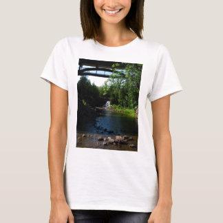 Majestic Waterfall at Gooseberry Falls - Nature T-Shirt
