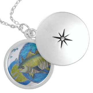 Majestic yellow fin Tuna Locket Necklace