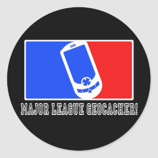 Major League Geocacher Round Sticker