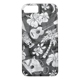 Makapuu Beach Hawaiian Charcoal Gray Batik iPhone 8/7 Case