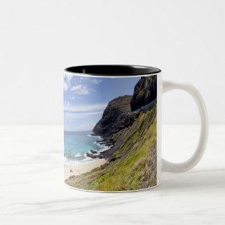 Makapuu Beach in Oahu, Hawaii. Two-Tone Coffee Mug
