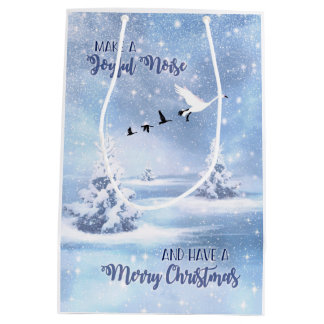 Make a Joyful Noise Christmas Snow Geese Gift Bag