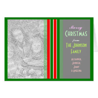 Make a personalized Christmas Family Photo Greeting Card