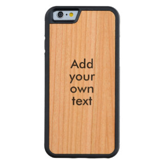 Make a Phone Case Wood Grain Add Your Own Text Cherry iPhone 6 Bumper Case