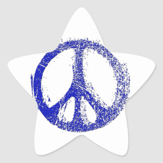 Make a Statement with grunge PEACE SIGN Star Stickers