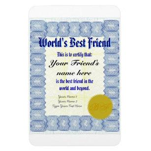 614be04a06e Make a World s Best Friend Certificate Magnet