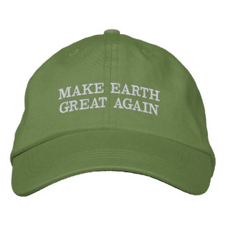 Make Earth Great (and green) Again! Embroidered Hat