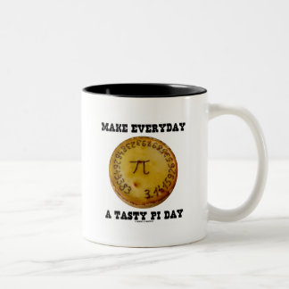 Make Everyday A Tasty Pi Day (Pi On Baked Pie) Two-Tone Coffee Mug