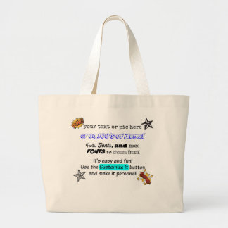 Make it personal! Custom Totes by thatsticker.com