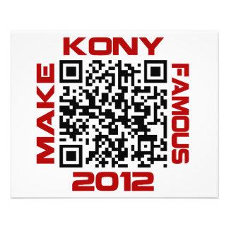 Make Kony Famous 2012 Video QR Code Joseph Kony 11.5 Cm X 14 Cm Flyer