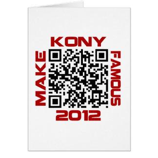 Make Kony Famous 2012 Video QR Code Joseph Kony Greeting Card