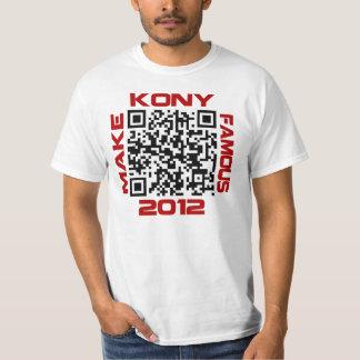 Make Kony Famous 2012 Video QR Code Joseph Kony Tee Shirt