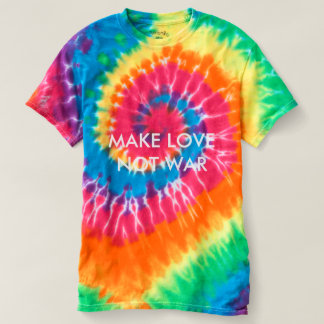 MAKE LOVE NOT WAR Customizable Tie-Dye T-Shirt