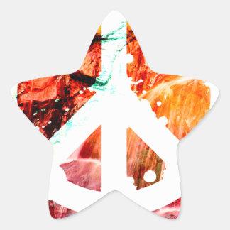 Make Love Not War Peace Star Sticker